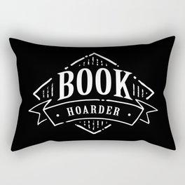 Book Hoarder BW Rectangular Pillow