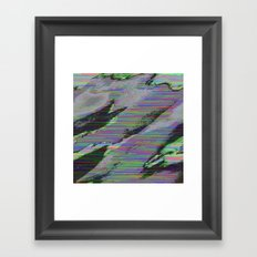 84-03-22 (Cloud Glitch) Framed Art Print