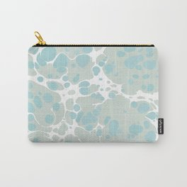 Soft Pastel turquoise and mint green spilled paint bubbles effect Carry-All Pouch