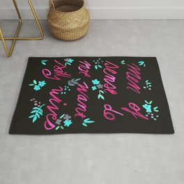 Men of sense do not want silly wives - Black & Pink Palette Rug