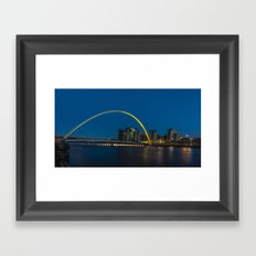Night on the Tyne Framed Art Print