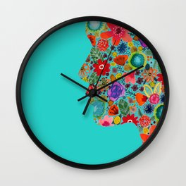dream on, little flower Wall Clock