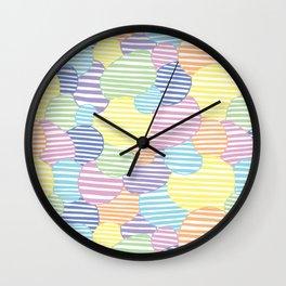Circled Pastel Lines Wall Clock