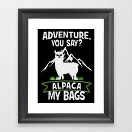 Alpaca My Bags  Travelling Framed Art Print