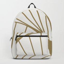 Diamond Series Round Sun Burst Gold on White Backpack
