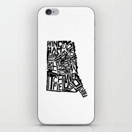 Typographic Connecticut iPhone Skin