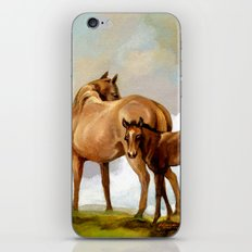 Thoroughbred Mare and Foal iPhone & iPod Skin