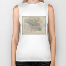 Vintage Map of Lyon France (1872) Biker Tank