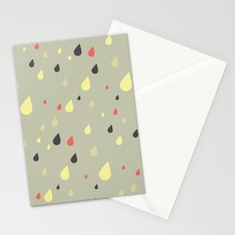 retro raindrops Stationery Cards