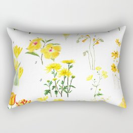 yellow and orange flower collections Rectangular Pillow