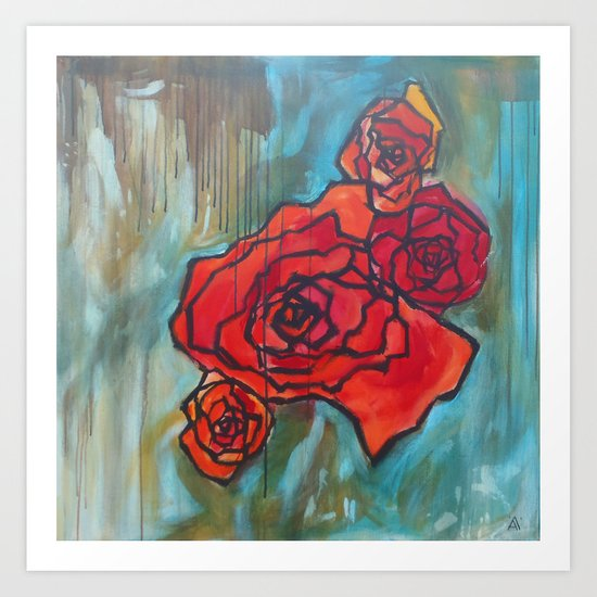 Roses61 Art Print