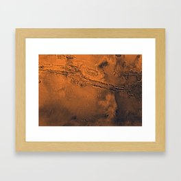 Valles Marineris, Mars Framed Art Print