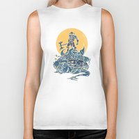 skyrim Biker Tanks featuring The Dragon Slayer by Fanboy30