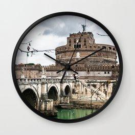 castel sant angelo in rome Wall Clock