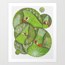 Green Guinea Turaco Art Print