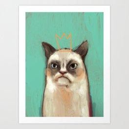 Grumpy Cat Art Print