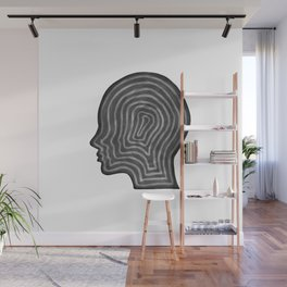 Abstract head profile Wall Mural