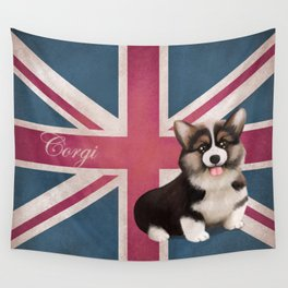 Royal Corgi Baby Wall Tapestry
