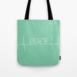 Peace Pulse Minimalist Christmas Tote Bag