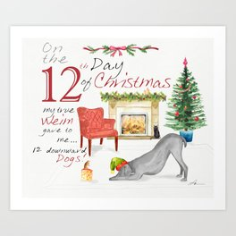 12TH DAY OF CHRISTMAS WEIMS Art Print