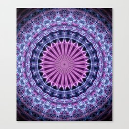 Pretty mandala in blue and violet tones Canvas Print