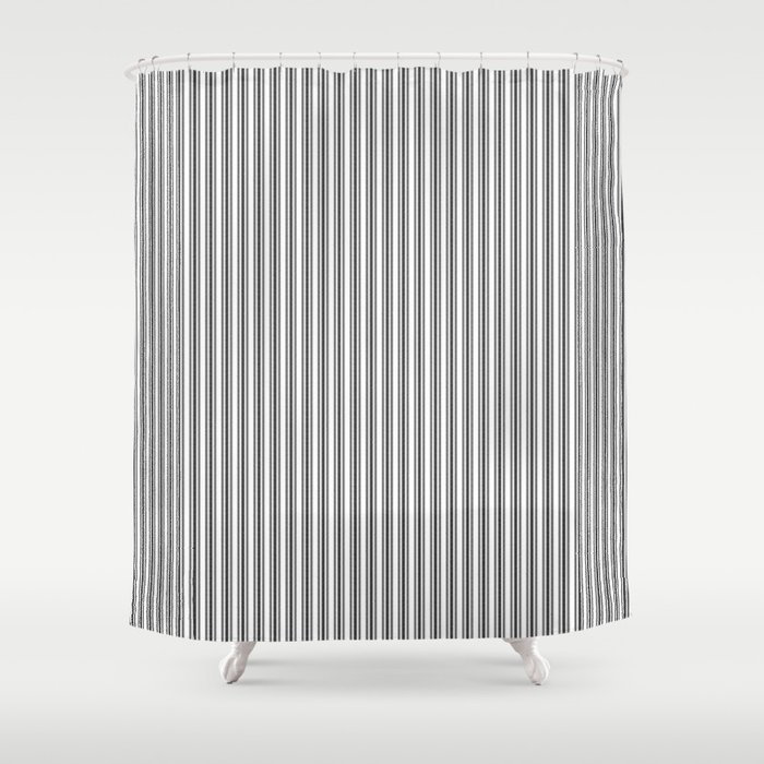 Trendy French Black and White Mattress Ticking Double Stripes Shower ...