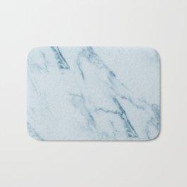 Teal Swirl Marble Bath Mat