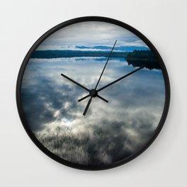mahinapua sunrise kajak new zealand colors reflections Wall Clock