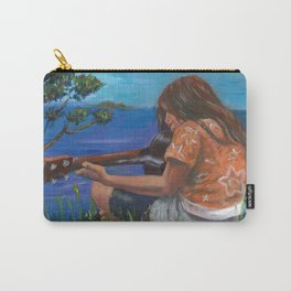 Playing ukulele Carry-All Pouch