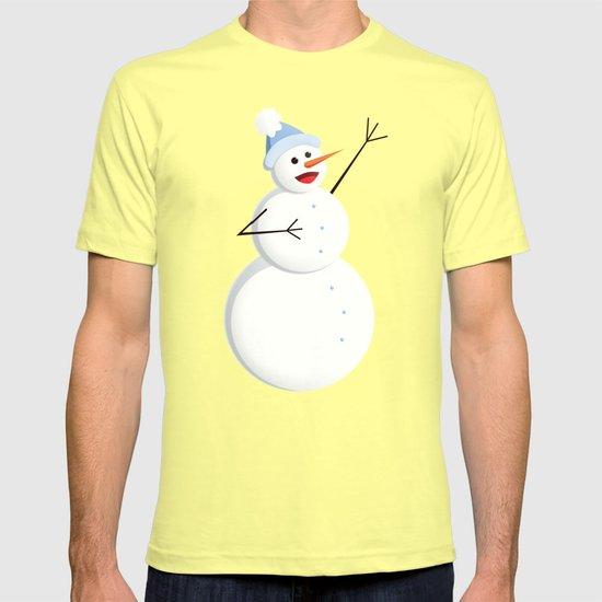 Blue Happy Singing Snowman T-shirt