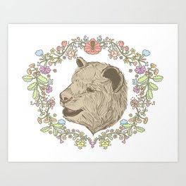 I love you beary much. Art Print