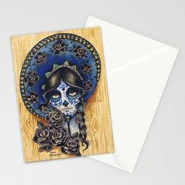 Sombrero Skull Girl Stationery Cards