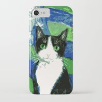 seahawks iPhone & iPod Cases featuring 12th Cat with Stars and Stripes by Kazumi