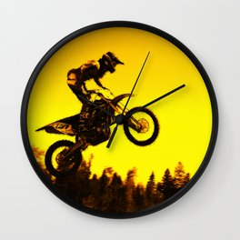 Sunset Run - Motocross Racer Wall Clock