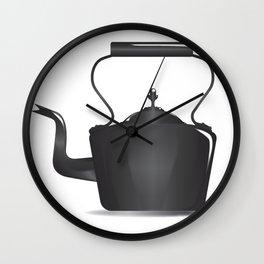 Victorian Black Kettle Wall Clock