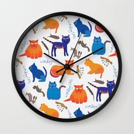 Working Cats Wall Clock
