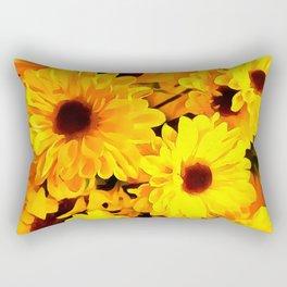Daisies Yellow 3 Rectangular Pillow