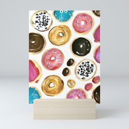 Colorful donuts with sprinkles Mini Art Print
