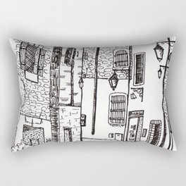 French Village Rectangular Pillow