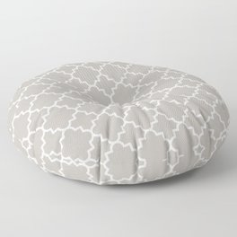 Classic Quatrefoil pattern, warm grey Floor Pillow