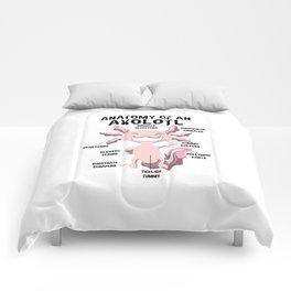 Anatomy of an Axolotl Teacher Gift Comforters