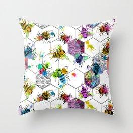 Bee Splat Throw Pillow