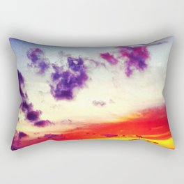 Disappearing Sunset Rectangular Pillow