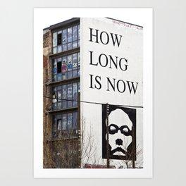 HOW LONG IS NOW - EAST BERLIN Art Print