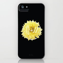 Trench Yellow Flower iPhone Case