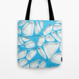 Blue on white, organic abstraction Tote Bag