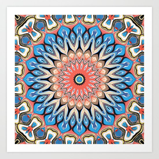 Abstract Flower Mandala Art Print