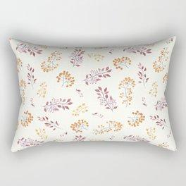 Pastel pink yellow watercolor botanical leaves berries Rectangular Pillow