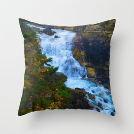 White Falls along the Berg Lake Trail in BC Throw Pillow