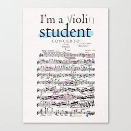 Violin student Canvas Print